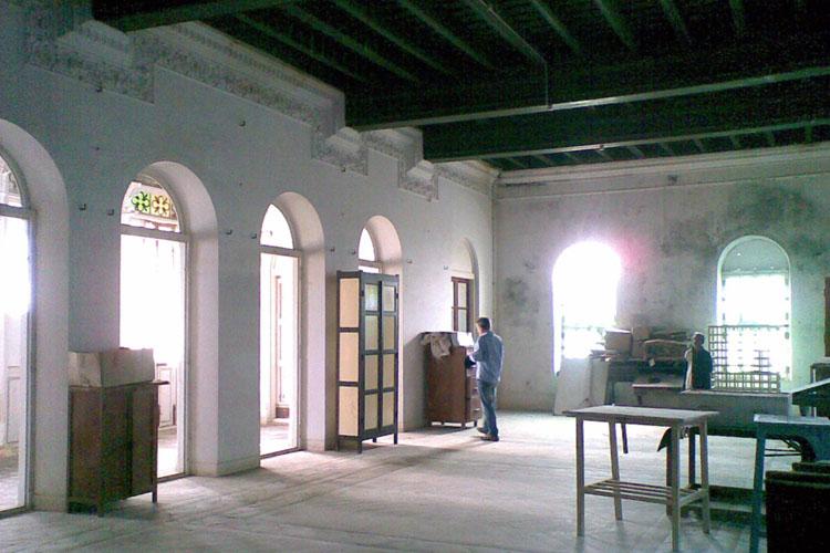 Academy House, Pondicherry. The Grand Salon. Photograph by Jateen Lad.